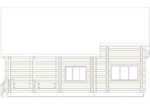 Дома бревенчатые Проект Б 34