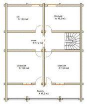 Дома бревенчатые Проект Б 35