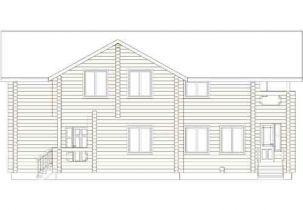 Дома бревенчатые Проект Б 40
