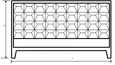 Элементы оград железобетонные