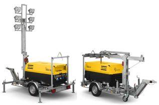 Мачты осветительные на базе дизельных генераторов QAX12 и QAX20