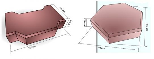 Плитка тротуарная пескобетонная вибропрессованная