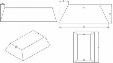 Плиты железобетонные ленточных фундаментов ФЛ ГОСТ 13580-85