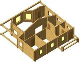 Проект дома из клееного бруса 100-200