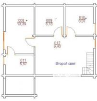 Проект дома из клееного бруса 109-200