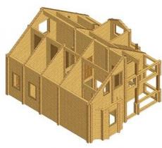Проект дома из клееного бруса 134-200