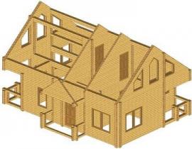 Проект дома из клееного бруса 136-200