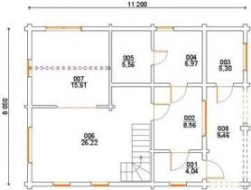 Проект дома из клееного бруса 140-200