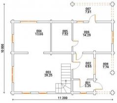 Проект дома из клееного бруса 146-200
