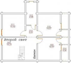 Проект дома из клееного бруса 148-200