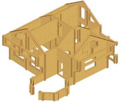 Проект дома из клееного бруса 160-200