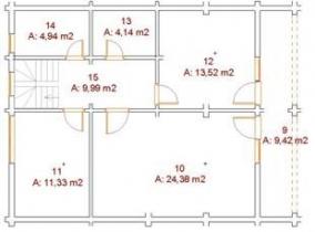Проект дома из клееного бруса 167-200