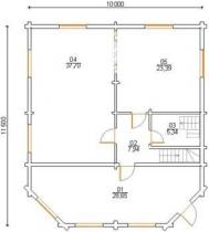 Проект дома из клееного бруса 177-200