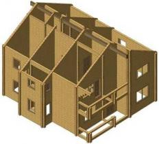 Проект дома из клееного бруса 198-200