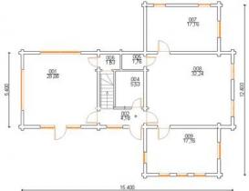 Проект дома из клееного бруса 202-200