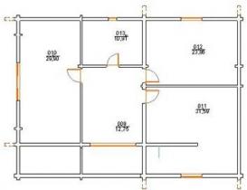 Проект дома из клееного бруса 231-200
