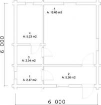 Проект дома из клееного бруса 32-200