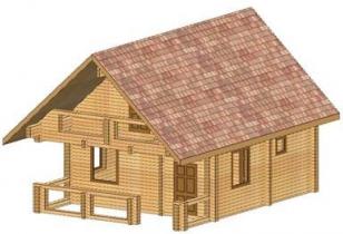 Проект дома из клееного бруса 81-200
