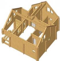 Проект дома из клееного бруса 91-200