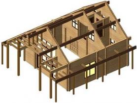 Проект дома из клееного бруса A109-200