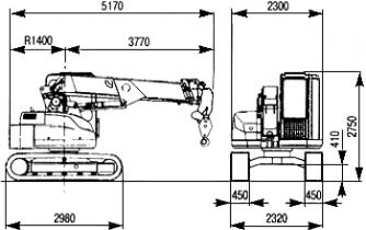 Телескопический кран на гусеничном шасси