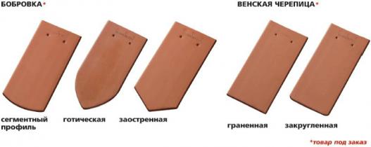 Черепица керамическая ленточная Бобровка