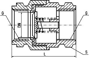КО Клапан обратный подъемный муфтовый латунный
