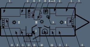 Здание мобильное жилое типа Альтаир на 8 человек с туалетной комнатой и теплым полом