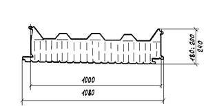 Панели кровельные типа сэндвич бескаркасные трехслойные с утеплителем из минераловатных плит