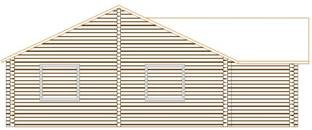 Проект дома из клееного бруса 117-200
