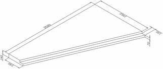 Плита плоская ПП36-21(6Л/П) (по серии 85, часть 10, раз. 10.1 - 1)