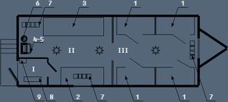 Здание мобильное жилое типа Альтаирс сушильным и инструментальным помещениями