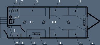 Здание мобильное жилое типа ТОИР с сушильным и инструментальным помещениями