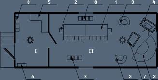 Здание мобильное жилое типа Альтаирс культбудкой