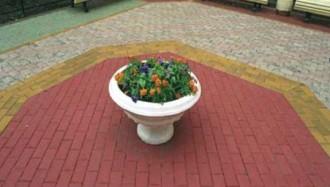 Плитка тротуарная, вибропрессованная, бетонная