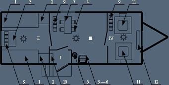 Здание мобильное жилое типа Альтаир на 4 человека с душевой