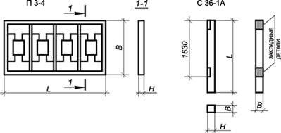 Панель заборная (ПЗ-4 1,6х3,0х0,12) м сталь ограждения, Кжи КЭСП