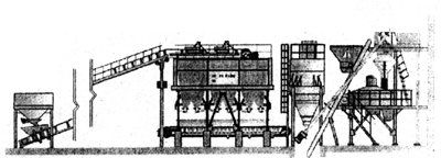 Бетоносмесительная установка БСУ-3 (летний вариант) ОАО 345 механический завод (Россия)