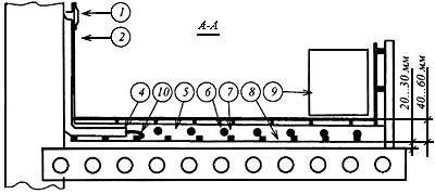 Конструкция низкотемпературной отопительной панели (теплого пола)