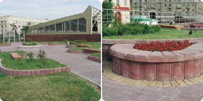 Камни облицовочные бетонные вертикальные