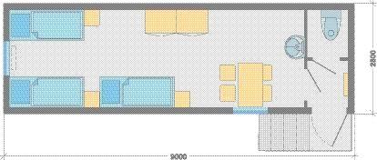 Здания жилые одиночные модульные