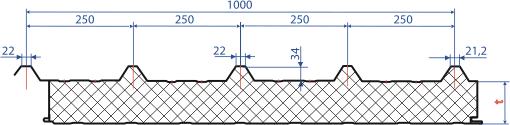 Теплоизоляция двухслойная Isover OL-KA (OL-K-30 + OL-P) из стекловолокна