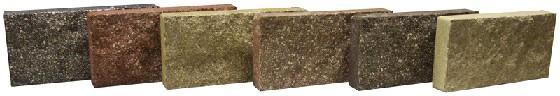 Кирпич икусственный лицевой декорированный под дикий камень по пласти