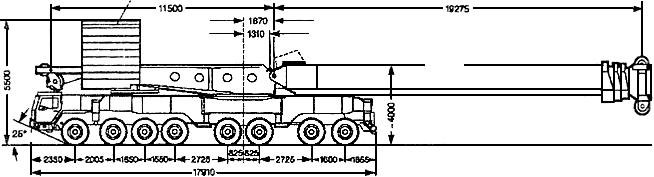 КРАН LIBHERR LTM 1800